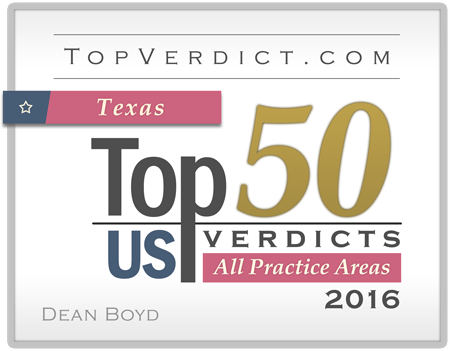 Top Verdict Badge for Dean Boyd